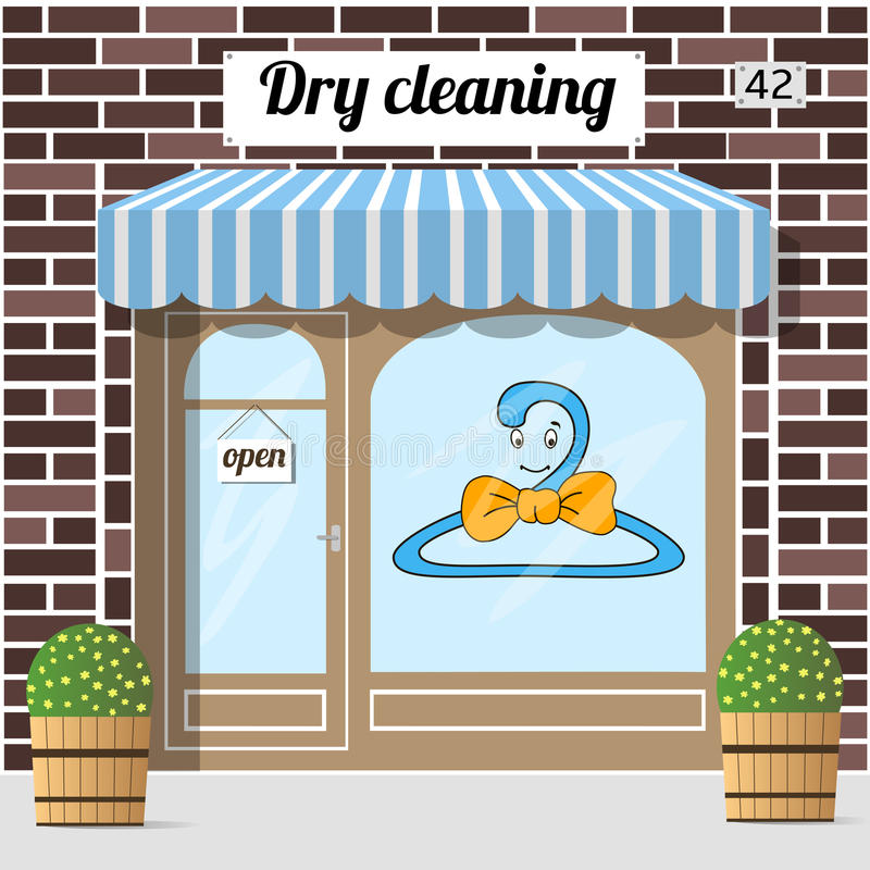 Dry cleaning service stock illustration