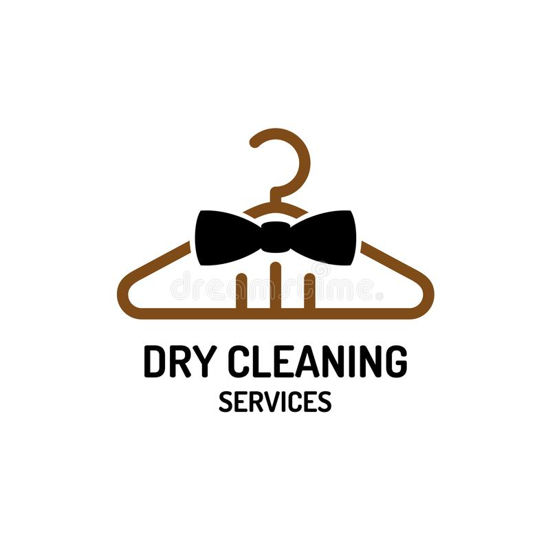 Dry cleaning service logo template. royalty free illustration