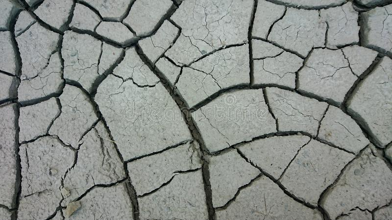 Dry Cracked Desert Land. Closeup of dry earth royalty free stock photo