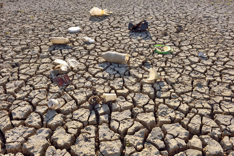 Dry Cracked Earth - Drought royalty free stock photography
