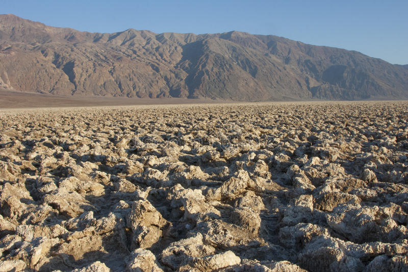 Dry cracked earth in Salt Flats, Death Valley, NP, CA stock photos