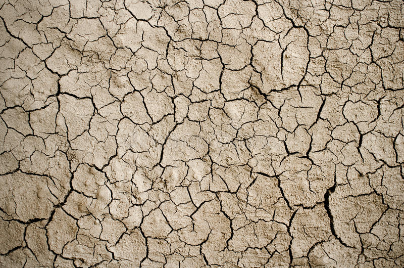 Dry cracked ground filling the frame as background.  royalty free stock photos