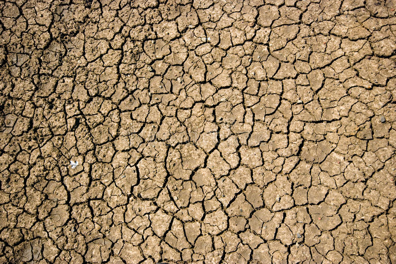Dry cracked soil during drought. In Victoria, Australia royalty free stock image