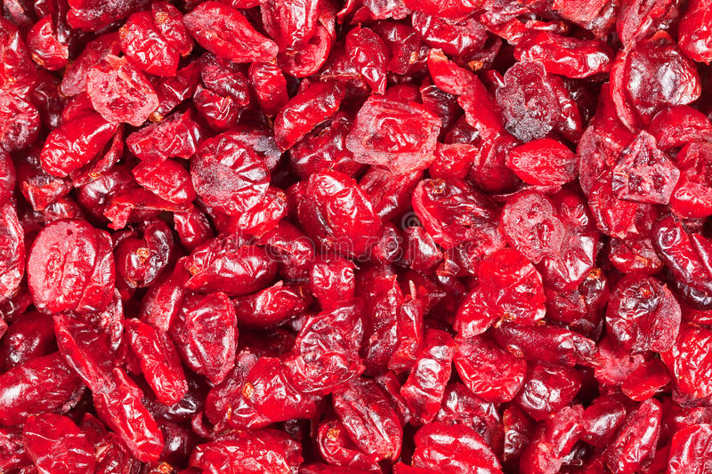 Dry cranberries royalty free stock photos