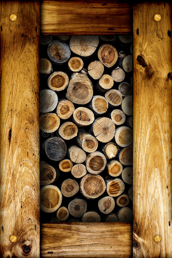 Dry cut firewood logs. stock images