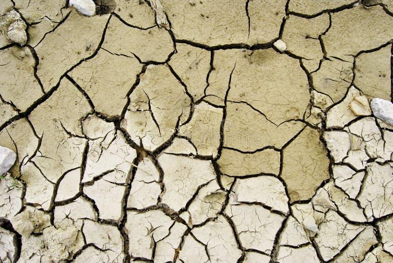 Dry desert. Cracked earth in dry desert stock photos