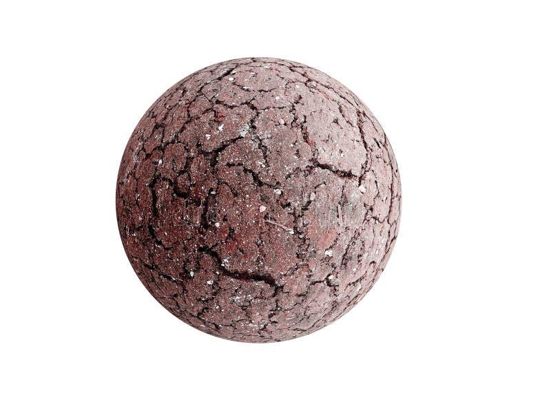 Dry Earth sphere stock photo
