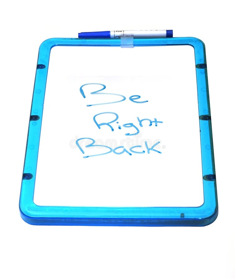 Dry erase board vector illustration