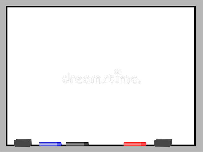 Download Dry Erase Board 2 stock illustration. Image of classroom - 3435891