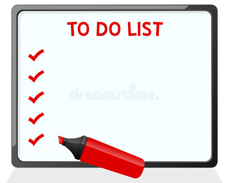 Dry Erase Board And Red Marker Stock Image