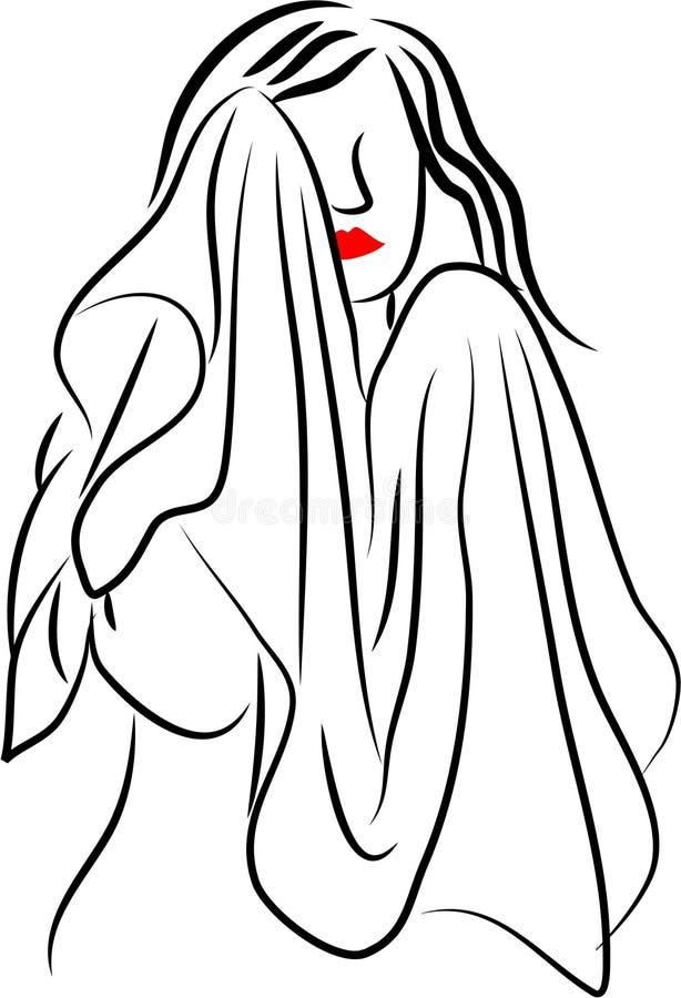 Dry Face stock illustration