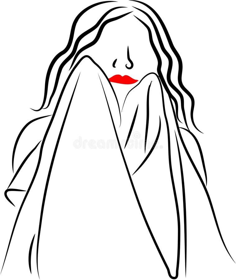 Dry Face vector illustration