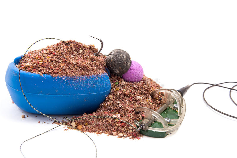 Dry feed for carp fishing. Ready for use Carp bait with fishing stock photography
