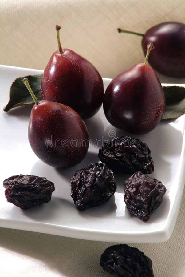 Download Dry And Fresh Plums Royalty Free Stock Image - Image: 792336