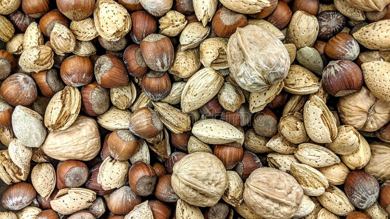 Dry fruit mix in loose. Can be used as a background or wallpaper and for other possibility or to modify to your taste royalty free illustration