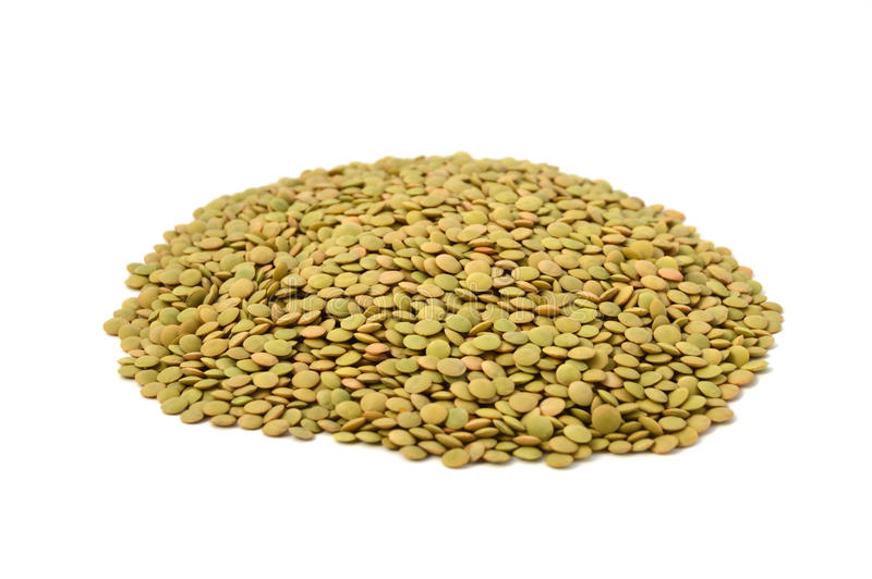 Dry green lentils. Pictures of green lentils with high nutrition stock photography