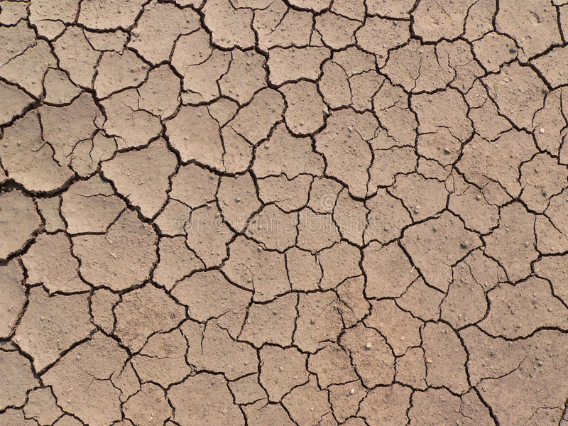 Dry ground texture. Dry Crackled Ground Texture (view from top royalty free stock photography