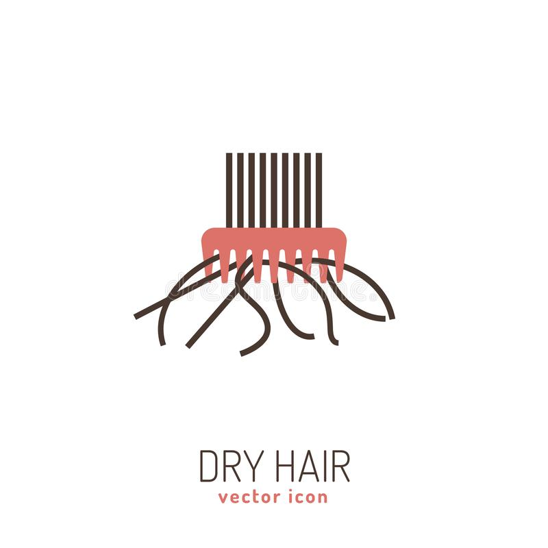 Dry hair icon vector illustration