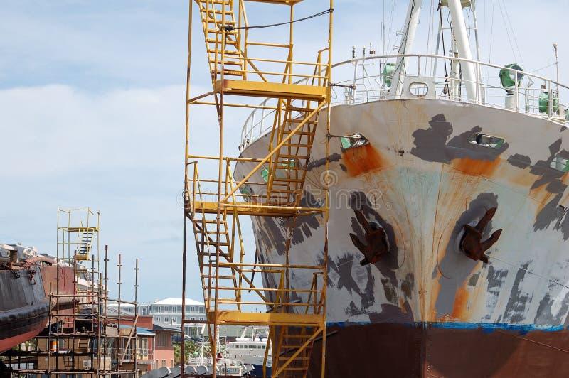 Download Dry harbor stock image. Image of ship, arrange, fixing - 1700471