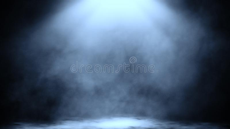 Dry ice smoke clouds fog floor texture.Perfect spotlight mist effect on isolated black background. Design element. Dry ice smoke clouds fog floor texture.Perfect stock image