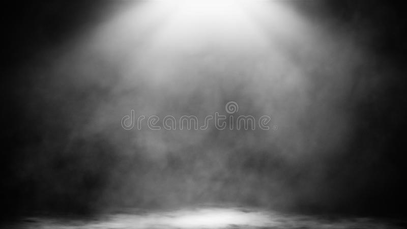 Dry ice smoke clouds fog floor texture.Perfect spotlight mist effect on isolated black background. Design element. Dry ice smoke clouds fog floor texture.Perfect stock photo