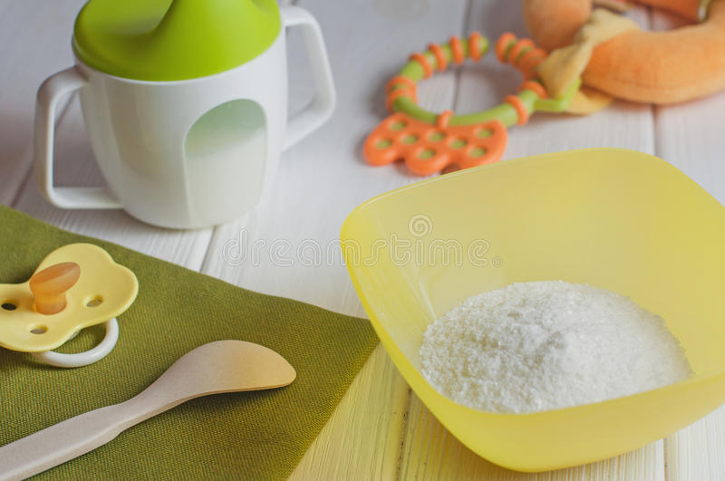 Download Dry Instant Rice Porridge Stock Photo - Image: 83711982