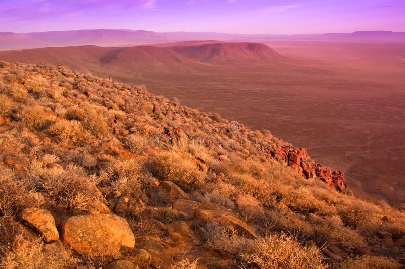 Dry karoo landscape royalty free stock photos