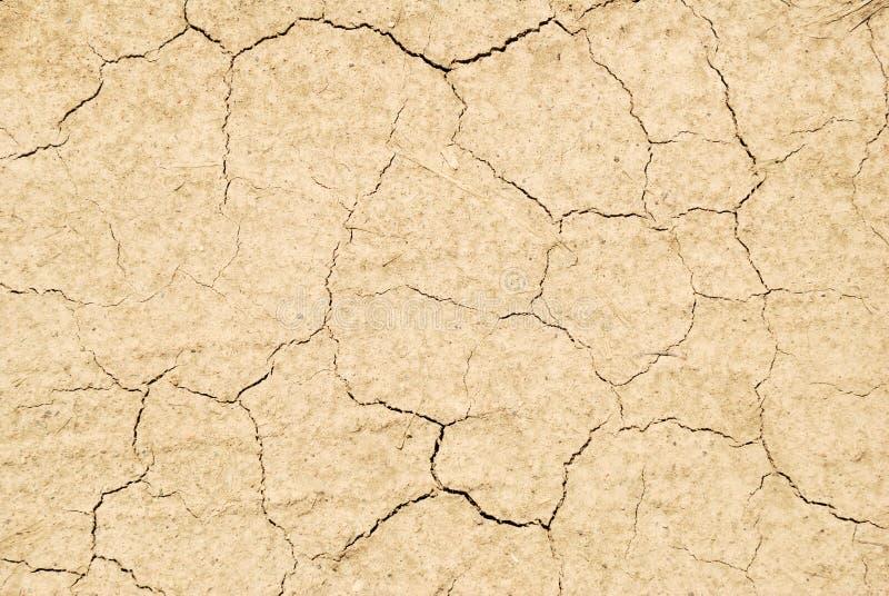 Dry knäckte landtextur fotografering för bildbyråer