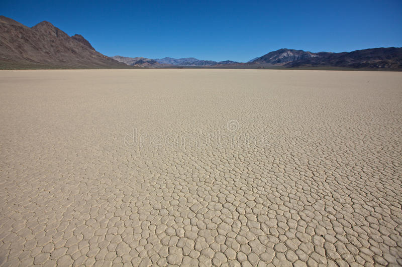 Dry Lake Bed Death Valley National Park. The Racetrack playa floor in Death Valley National Park, California stock photography