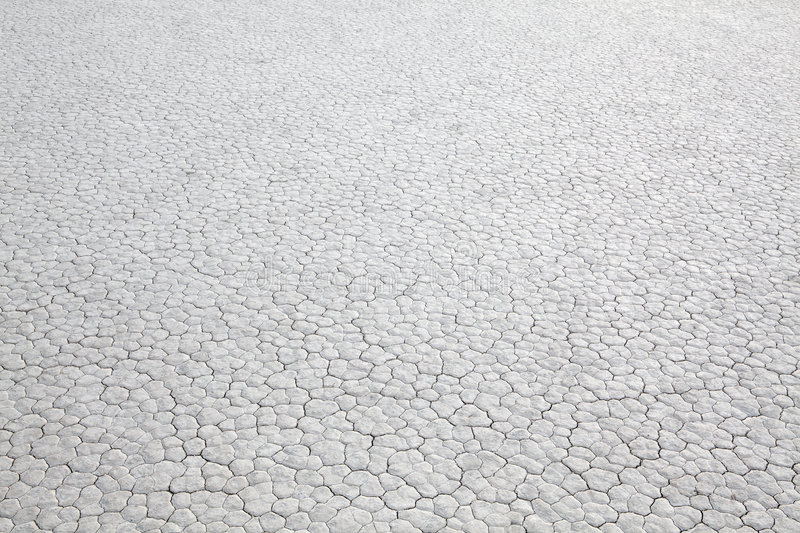 Dry lakebed abstract background stock photo