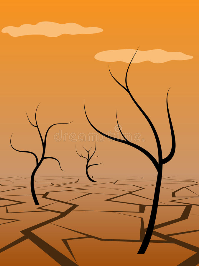 Download Dry land stock vector. Illustration of disaster, land - 16210572