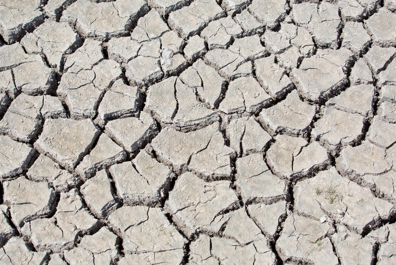 Dry land. On summer at Texas stock photo