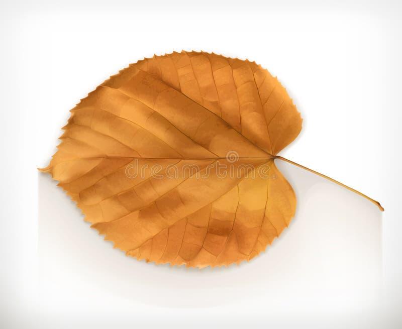 Dry leaf icon royalty free illustration
