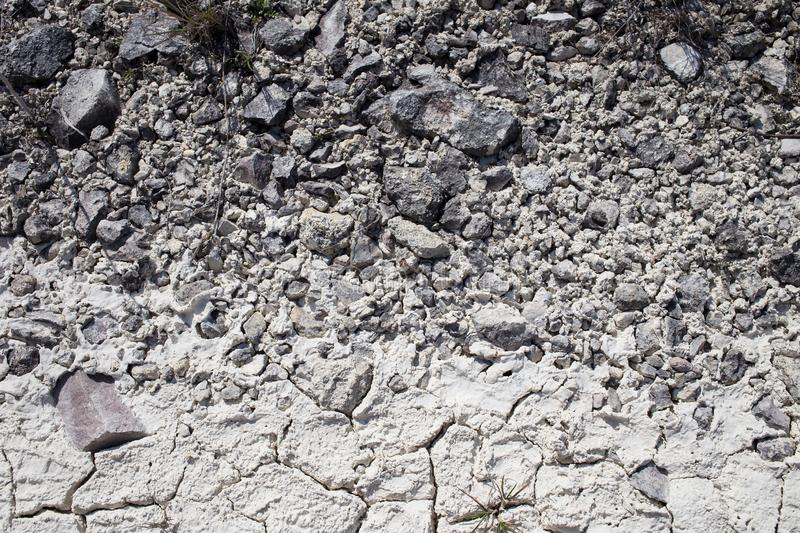 Dry limestone soil. Dry limestone soil texture. Can be used as wallpaper for a monitor stock images