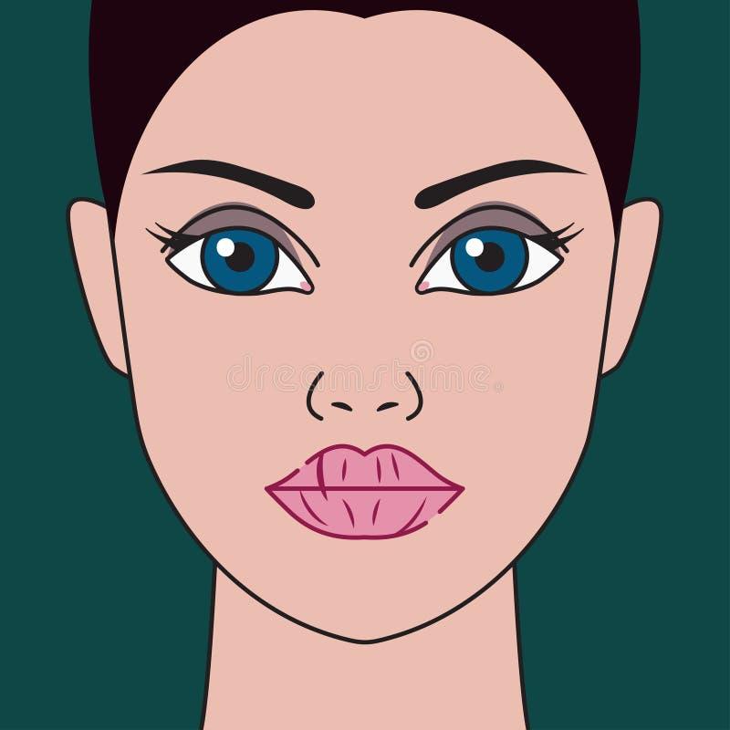 Dry lips stock illustration