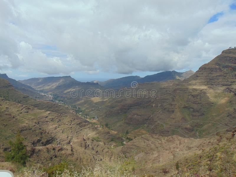 Dry Mountains of Gran Canaria stock image