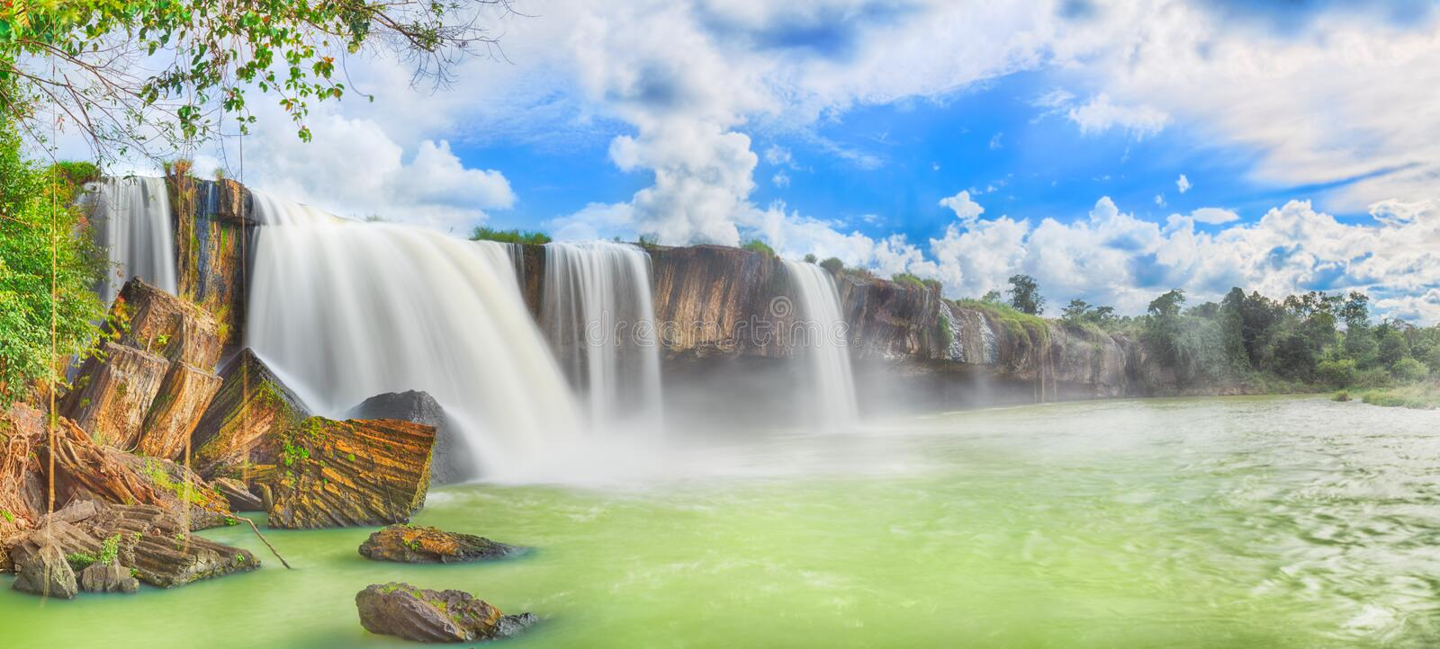 Dry Nur waterfall royalty free stock photography