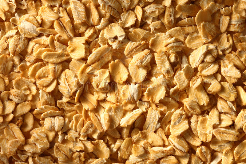 Dry oats cereal stock photos