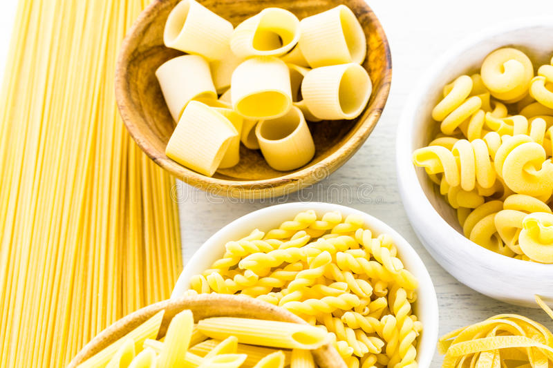 Dry pasta stock photography