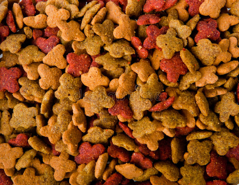 Dry pets food background. An image of dry pets food background, horizontal royalty free stock images