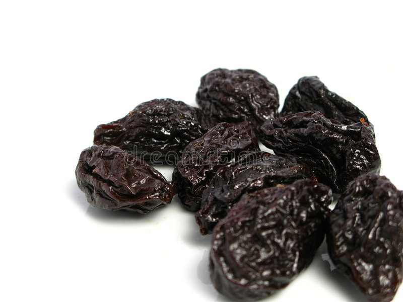 Dry plum or prune fruit royalty free stock image