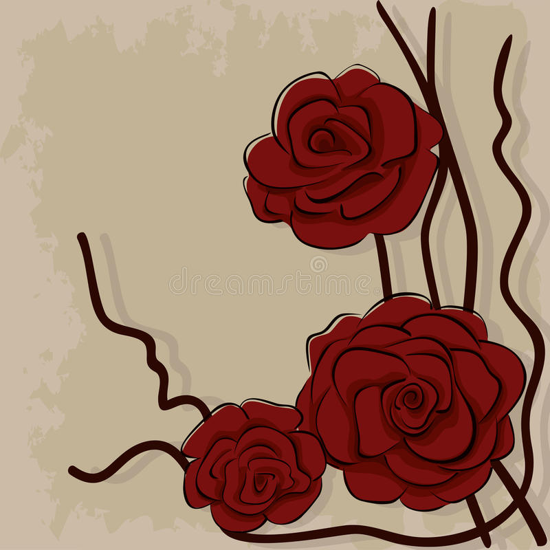Download Dry Red Roses On Stone Royalty Free Stock Images - Image: 28618169