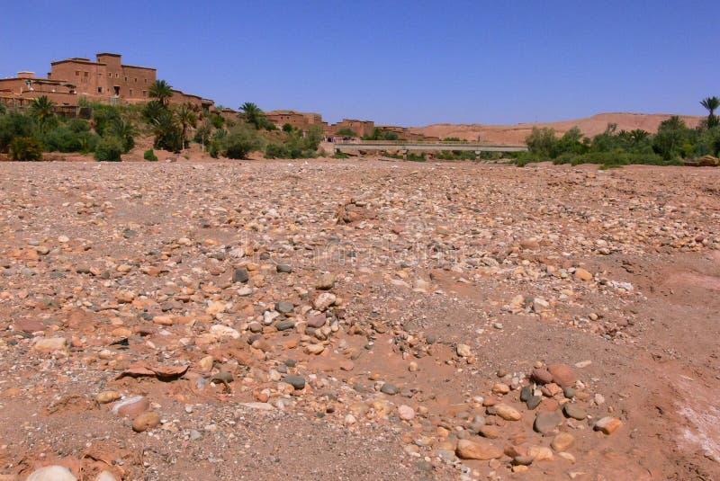 Dry river in Morocco stock image