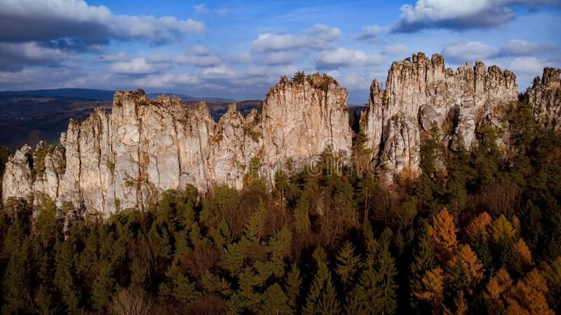 Dry Rocks in the Bohemia Paradise royalty free stock photos