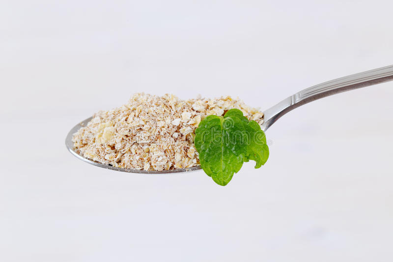 Download Dry rolled oatmeal stock image. Image of morsel, organic - 83709831