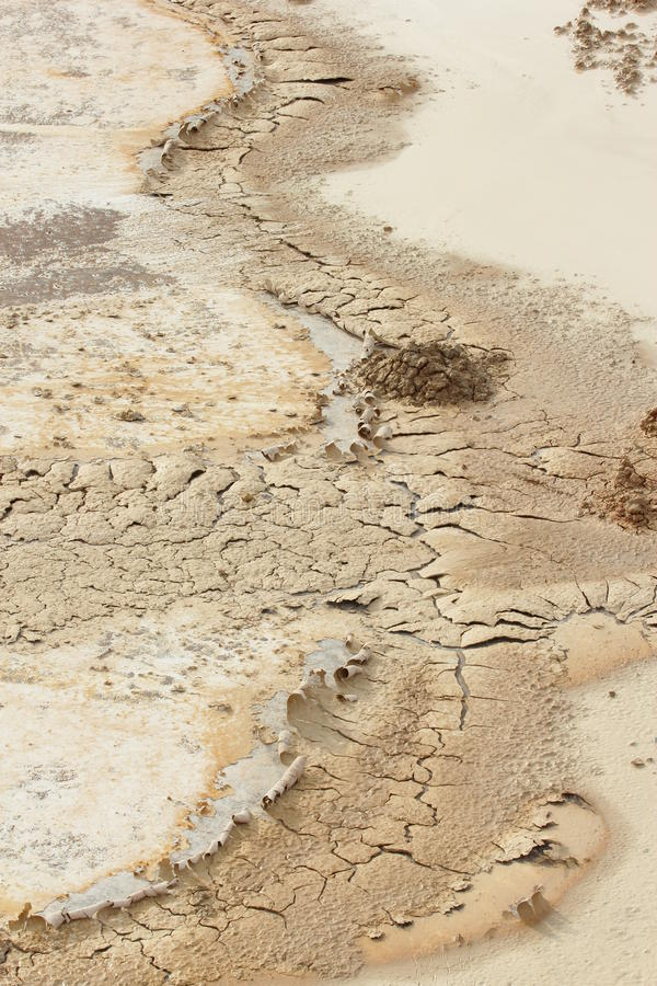 Dry soil. In arid climate stock photo