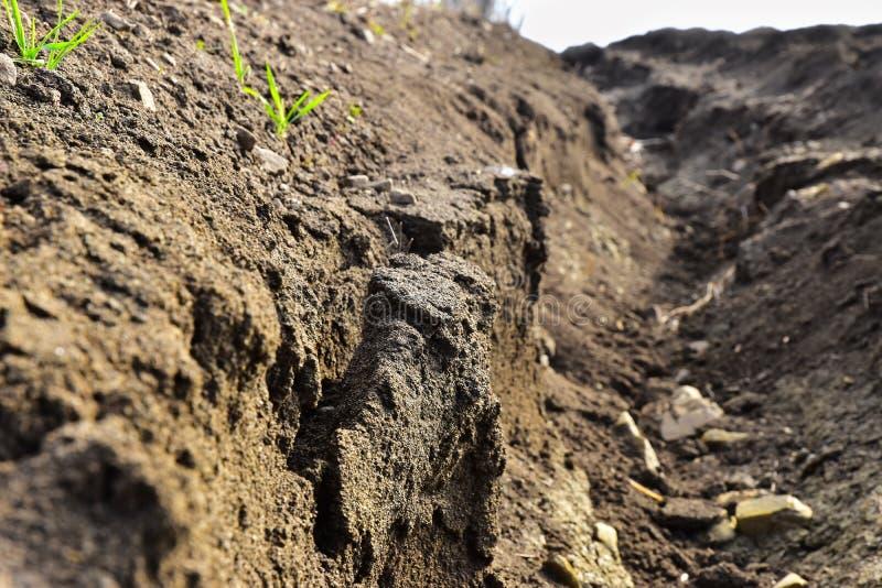 Soil abrasion erosion stock photos