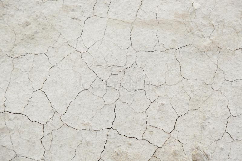 Dry soil by a drought stock image