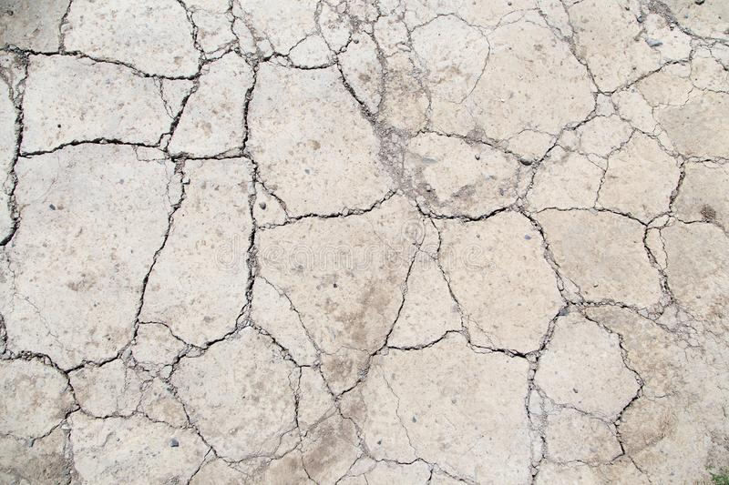 Soil with dry and cracked ground.Global warming background. Dry soil by drought, natural disasters, climate change royalty free stock photos