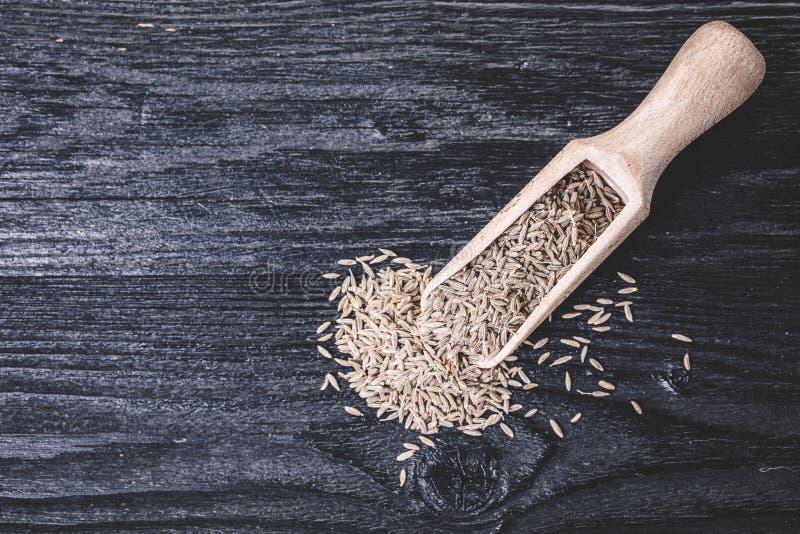 Dry spices cumin stock photo